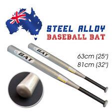 """32"""" /25"""" Steel alloy Silver Baseball Bat Racket Softball Sports Lightweight"""