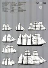 Olympische Spiele 1972 München Segelschulschiffe aus aller Welt A0 Otl Aicher