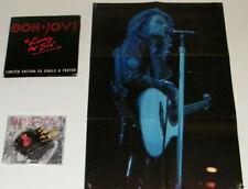 "BON JOVI Living In Sin Rare UK 7"" x 7 limited edition box set CD single & Poster"