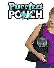 2 pack Purrfect Pouch Comfy Cat Carrier/ Grooming Sack As Seen on TV Black