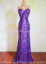 MAC DUGGAL PURPLE SEQUIN GOWN EVENING HOMECOMING PAGEANT PROM QUINCE DRESS 2