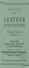 Leather Specialties For Advertising 1940 Catalog Key Cases Wallets Purses Etc