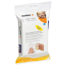 Medela Quick Clean Breast Pump and Accessory Wipes, (24 Count) Resealable Pack.