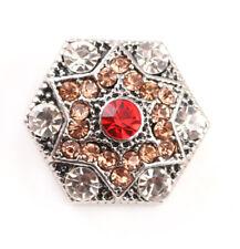 3DCrystal Chunk Charm Snap Button Fit For Noosa Necklace/Bracelet NSKZ129