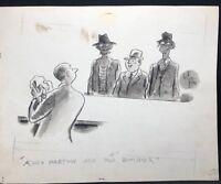 Original ZOMBIES GAG Cartoon Art TRUE MAGAZINE 1946 NED HILTON noted artist