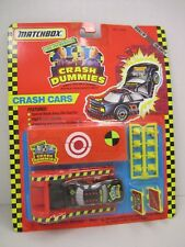 "The Incredible ""CRASH DUMMIES"" - CRASH CARS 1992 Matchbox - Buckle Up For Safety"