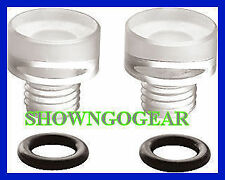 HOLLEY CLEAR BOWL SIGHT PLUGS BARRY GRANT DEMON RACECAR  HOLDEN FORD CHEV MOPAR