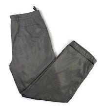 PRADA Women's Nylon Ski Snow Pants Size 48 Satin Gray Lined 31.5 x 28 Gd Cd.
