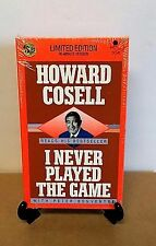 I Never Played the Game Howard Cosell Limited Edition (1988 2-Cassettes)