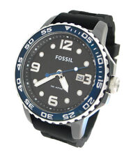 NEW FOSSIL BLACK SILICONE DATE 50M MENS WATCH CE5004