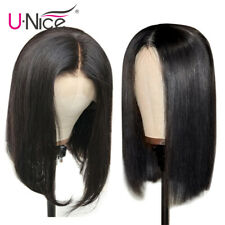 UNice Short Lace Front Human Hair Wigs With Baby Hair Brazilian Hair Bob Wig 8""