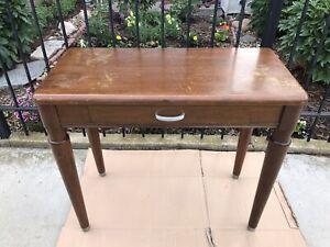 "Vintage Stow & Davis Writing Desk With Drawer 34-1/2"" W x 16-1/2"" D x 30-1/4"" H"
