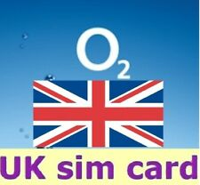 O2 United Kingdom, PREPAID SIM card. UK. No registration required.