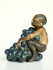 KAI NIELSEN  b&g faun figure stoneware century Bing & Grondahl dennmark