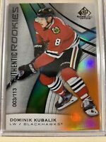 2019-20 SP GAME USED ROOKIE DOMINIK KUBALIK  003/113 Blackhawks RC