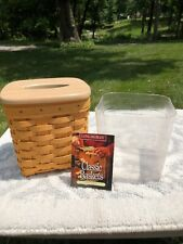 Vintage 1998 Longaberger Tall Tissue Basket With Wooden Lid And Liner