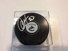 Chris Higgins Signed Vancouver Canucks Hockey Puck Autographed c