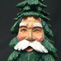 Department 56 Christmas Tree Two Faced Santa Christmas Decoration Resin