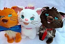 Authentic Disney Aristocats Kittens Toulouse, Marie & Berlioz plush animals cats