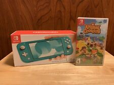 Brand New nintendo switch lite turquoise Handheld Console with animal crossing