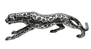 Decorative Leopard Large Metal Statue Jaguar Panther 48 cm Figurine