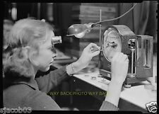 """1936 PHOTO AT HAMILTON WATCH COMPANY IN LANCASTER, PA - 8"""" by 10"""" - NICE"""