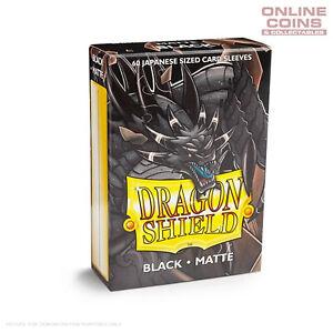 DRAGON SHIELD - Japanese Card Sleeves Matte BLACK Pack of 60 #AT11102