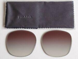 Brand New Women's PRADA Brown Gradient Lens Replacements SPR 16US Heritage 54mm.