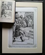 RARE 1896 Signed Original H J Ford Pen and Ink art Animal Story Book Andrew Lang