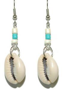 Beautiful Cowry Shell Dangle Earrings (D008)