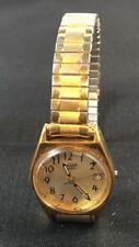 Pulsar Womens Goldtone Quartz V827-0430 Watch For Parts or Repair