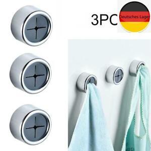 3PCS Push In Geschirrtuchhalter Griff Haken Chrom Selbstklebende Küchentuch Clip
