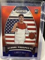 2020 Panini Prizm DP LaMelo Ball #98 Global Prospects Red White Blue prizm RC