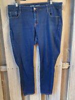 Old Navy Rockstar Dark Blue Denim Skinny Stretch Jeans 18 P Petite