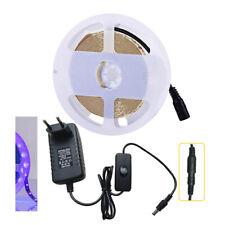 5m-20m UV Schwarzlicht LED Streifen Stripe Netzteil 300leds Stripe 5050 2835 SMD