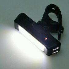 front white cob rechargeable usb bike light - small waterproof powerful led lamp