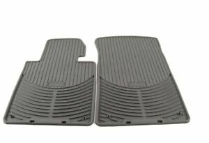 Genuine BMW E46 Front All Weather Rubber Floor Mat Set Gray 82550151489 NEW
