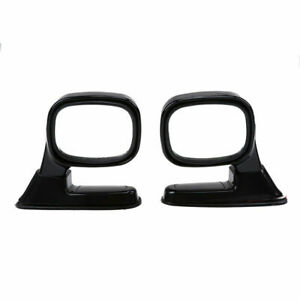 Pair Universal Car Auto SUV Pickup Side Rear View Mirror Left Right Side Black
