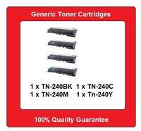 4x TN240 TN-240 toner cartridges for Brother HL3040 HL3070 MFC9125 MFC9325