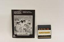 Basketbrawl - Atari Lynx Game with manual