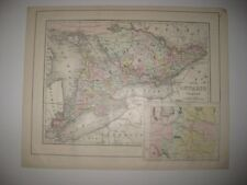 MINT ANTIQUE 1896 ONTARIO MANITOBA NOVA SCOTIA HALIFAX CANADA MITCHELL HDCLR MAP