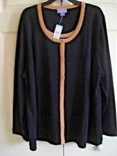 Ladies Plus  Sweater  2 Fer 1 Sweater Black Size 1X New