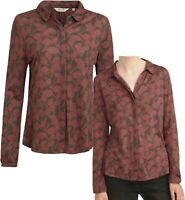 NEW IN! SEASALT 'Tregawn Pottery Leaf Graphite' Cotton Blend Top Shirt Blouse 16