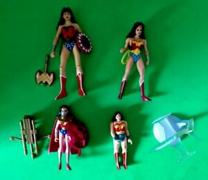 WONDER WOMAN LOOSE ACTION FIGURE LOT OF 4 W/ SOME ACCESSORIES