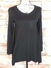 H&M Women's Black Asymmetric Knitted Black Sweater Top Size S