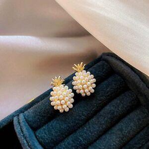 Fashion KC Gold Pineapple Pear Earrings Ear Stud Women Lady Jewellery Gifts New