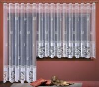 ELEGANT WHITE NET CURTAIN TWO DROPS SOLD BY METERS TO ANY ROOM