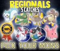 Pokemon GO | x5 Regional Pokemon | x5 Catches | Chatot | Tropius | Zangoose