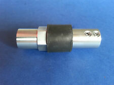"MODEL BOAT HEAVY DUTY FLEXIBLE PROPSHAFT COUPLING - M8 THREAD TO 1/4"" PLAIN"