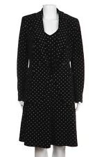 EMPORIO ARMANI 2 Piece Cocktail Dress Jacket Medium Black White Polka Dot Set M